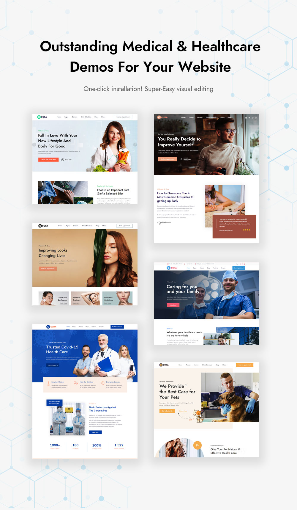 Outstanding Medical & Healthcare Demos For Your Website